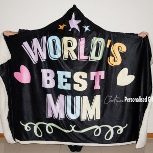 Worlds Best Mum Hooded Blanket